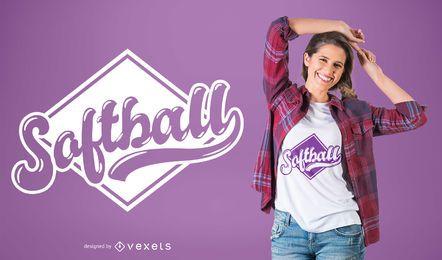 Diseño de camiseta de softbol