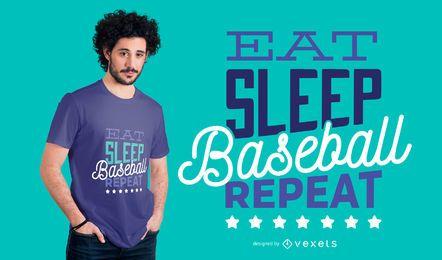 Projeto do t-shirt das citações do basebol