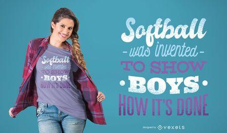 Projeto do t-shirt das meninas do softball