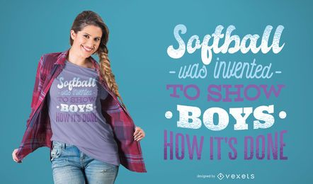 Softball Girls T-shirt Design