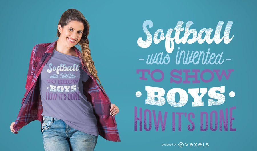 Softball Girls T-shirt Design