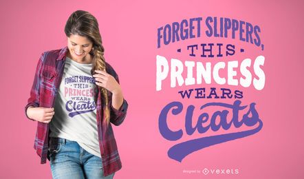 Diseño de camiseta de fútbol princesa
