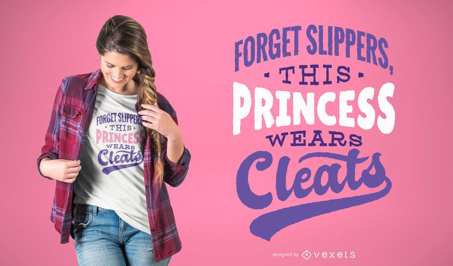 Football Princess T-shirt Design
