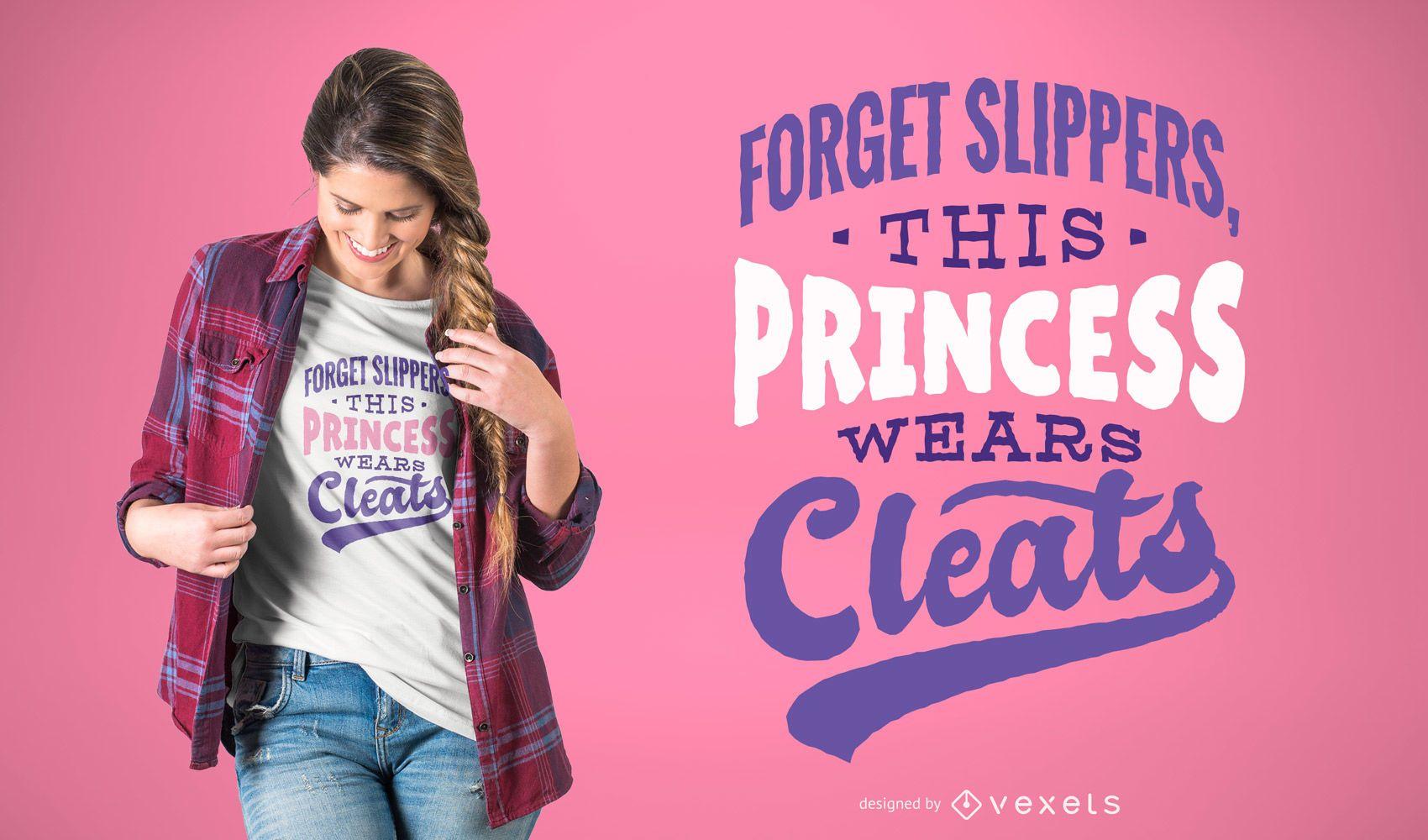 Football Princess T-shirt Design
