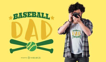 Diseño de camiseta de papá de béisbol