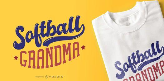 Diseño de camiseta abuela de softbol