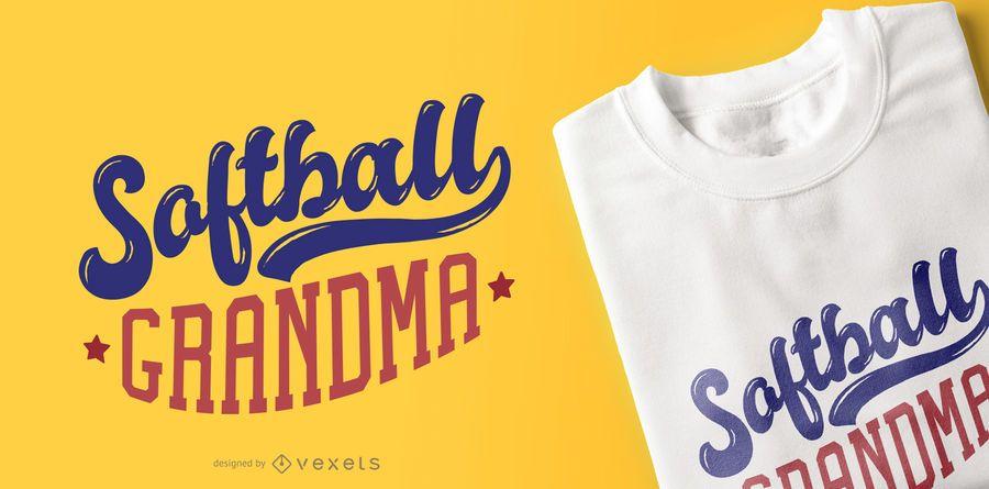Softball Grandma T-shirt Design