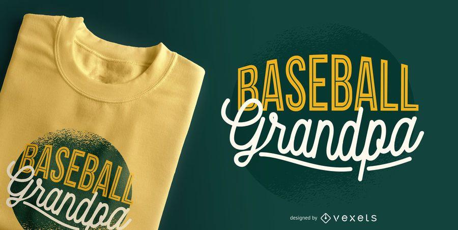 Projeto do t-shirt do vovô do basebol