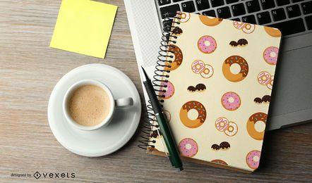 Nahtloses Donut-Musterdesign