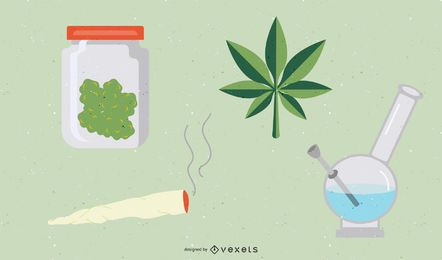 Marijuana Weed Icon Set