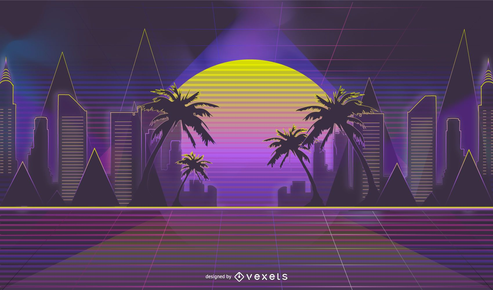 Neon Retrowave Skyline