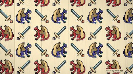 Medieval Dragons Pattern Design
