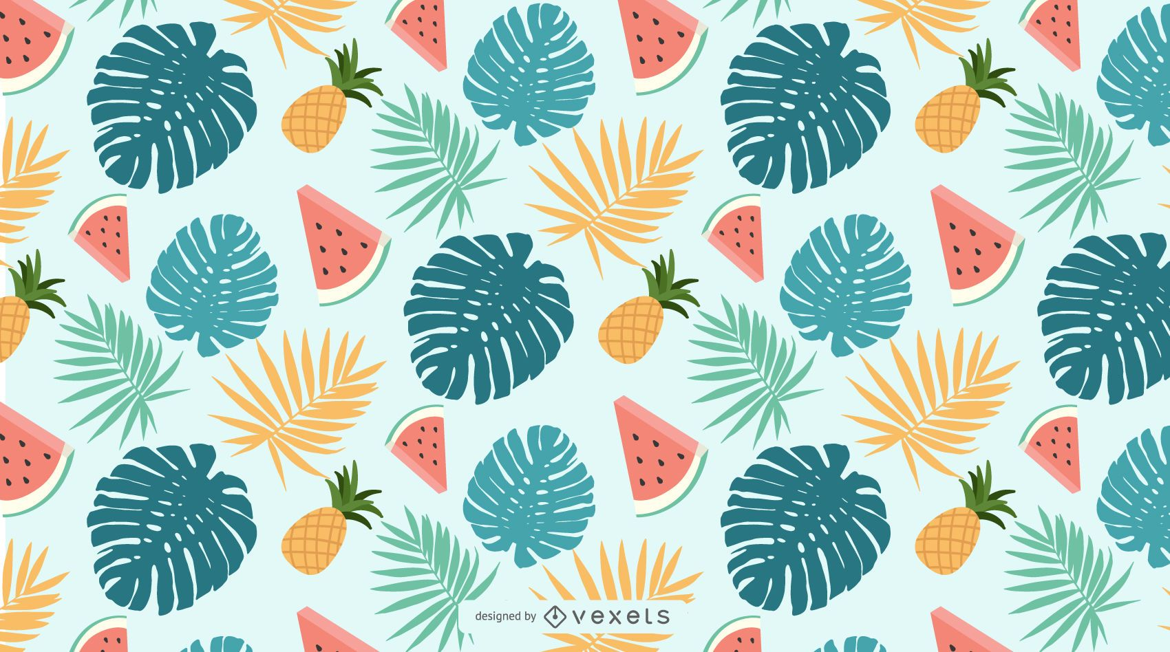 Seamless Tropical Nature Pattern