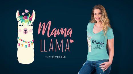 Diseño de camiseta Mama Llama