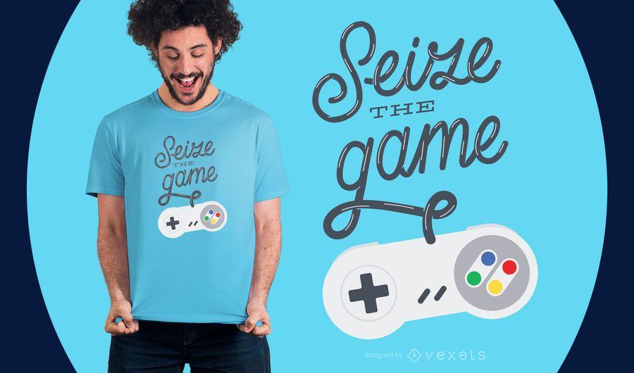 Aproveite o design de t-shirt do jogo