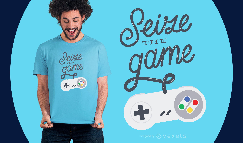 Diseño de camiseta Seize the Game