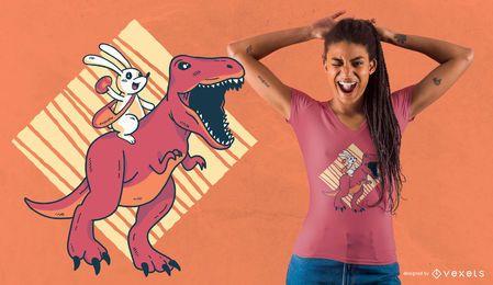Projeto do t-shirt do dinossauro de Easter
