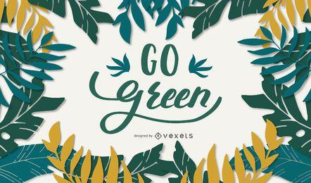 Grüne Schriftgestaltung