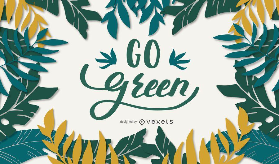 Vai o design de rotulação verde