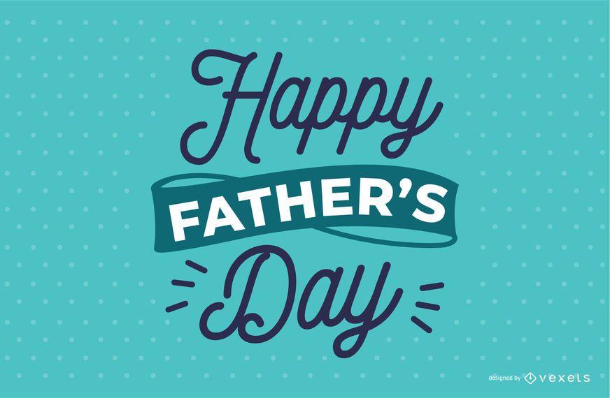 Diseño de letras del día del padre