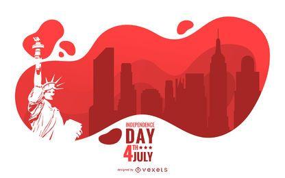 Unabhängigkeitstag-Illustrations-Design