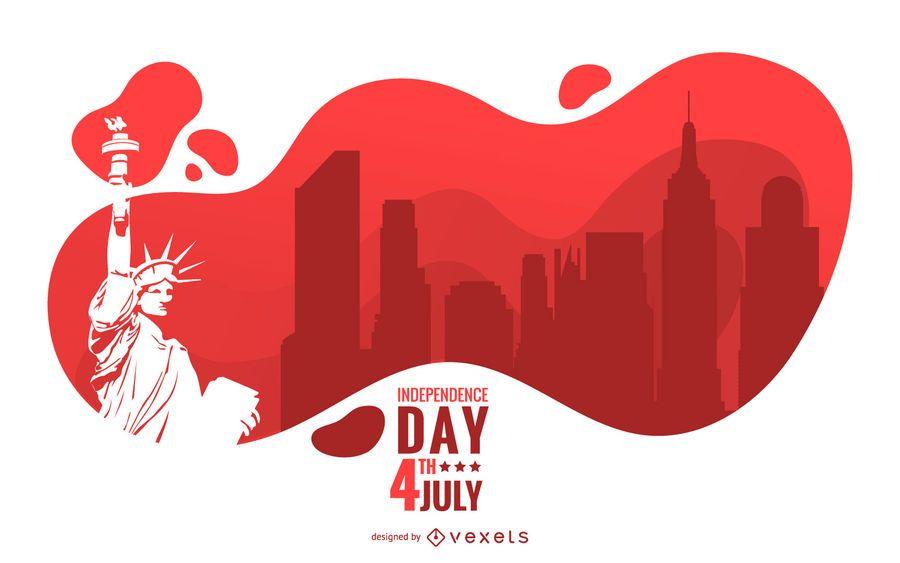 Diseño de ilustración del día de la independencia