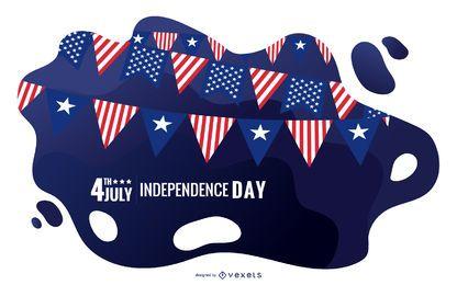 Ilustración del día de la independencia de Estados Unidos