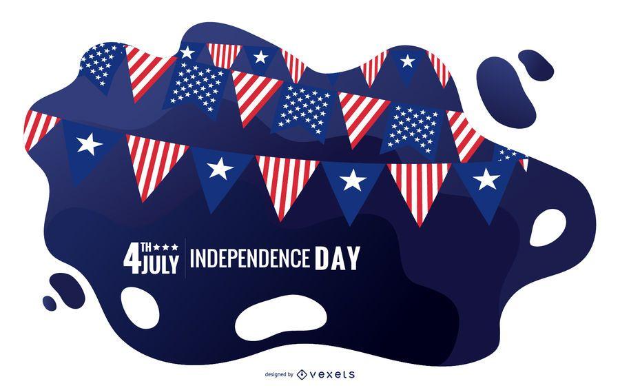 Ilustração do dia da independência dos EUA