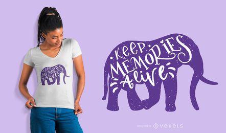 Mantenha Memórias Alive T-shirt Design