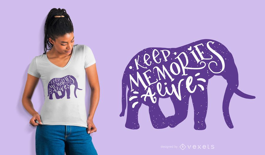 Mantenga Memories Alive camiseta de diseño