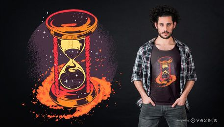 Sanduhr-T-Shirt-Design