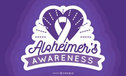 Alzheimer Awareness Label