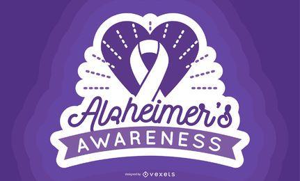 Rótulo de Consciência de Alzheimer
