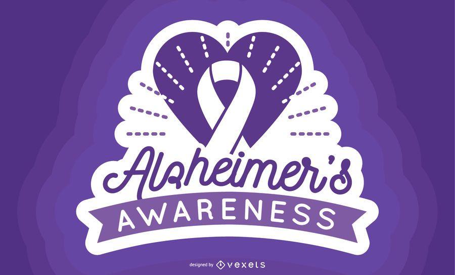 Etiqueta de conciencia de Alzheimer