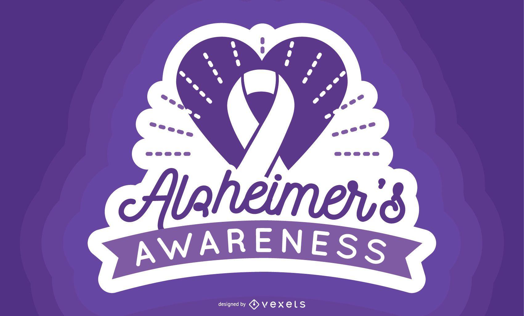Alzheimer Awareness Label
