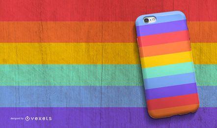 Diseño de la caja del teléfono del arco iris