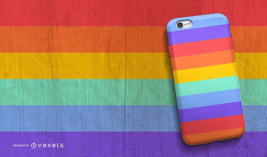 Rainbow phone case design