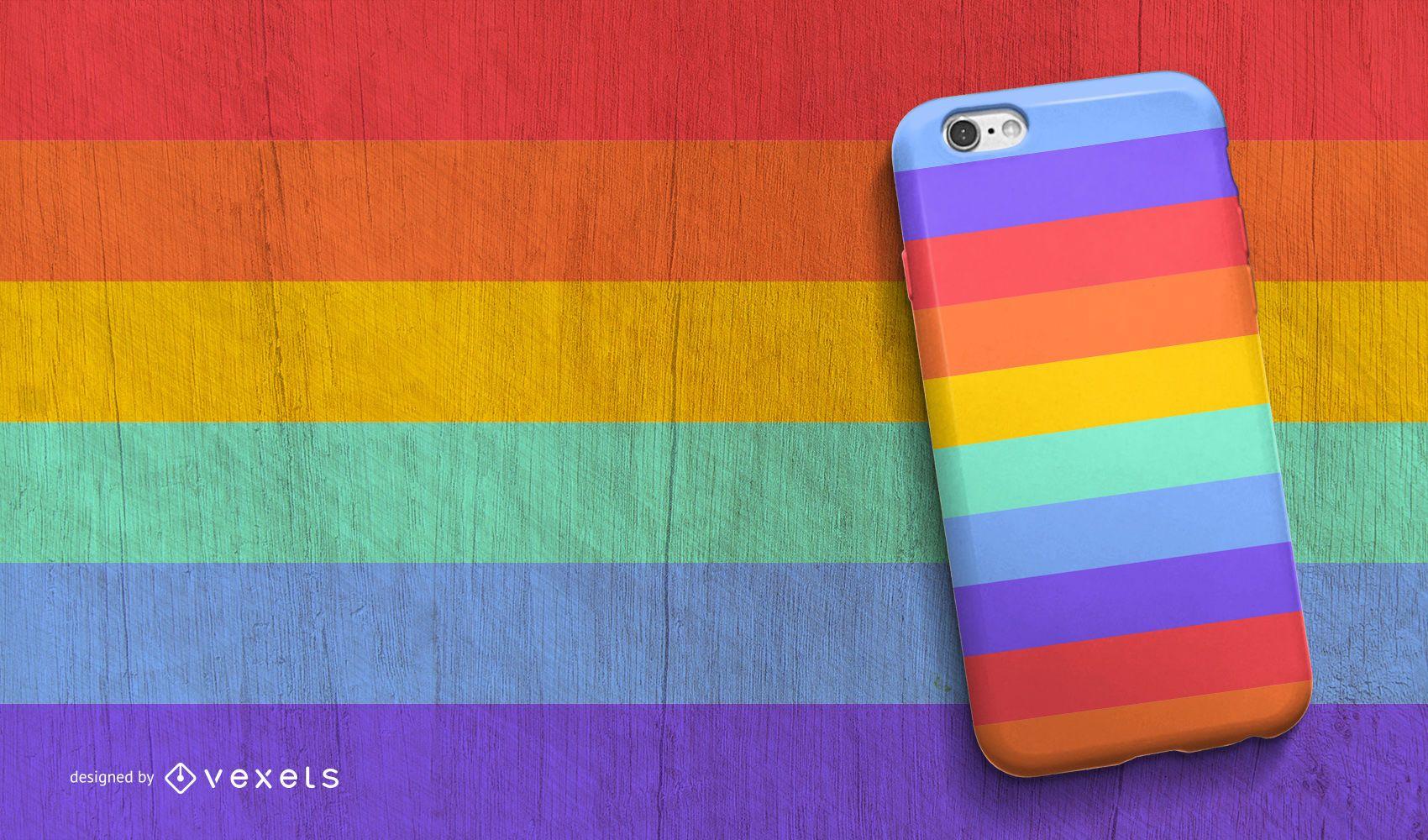 Diseño de carcasa de teléfono arcoíris