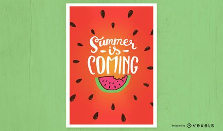 Se acerca el verano diseño de carteles.