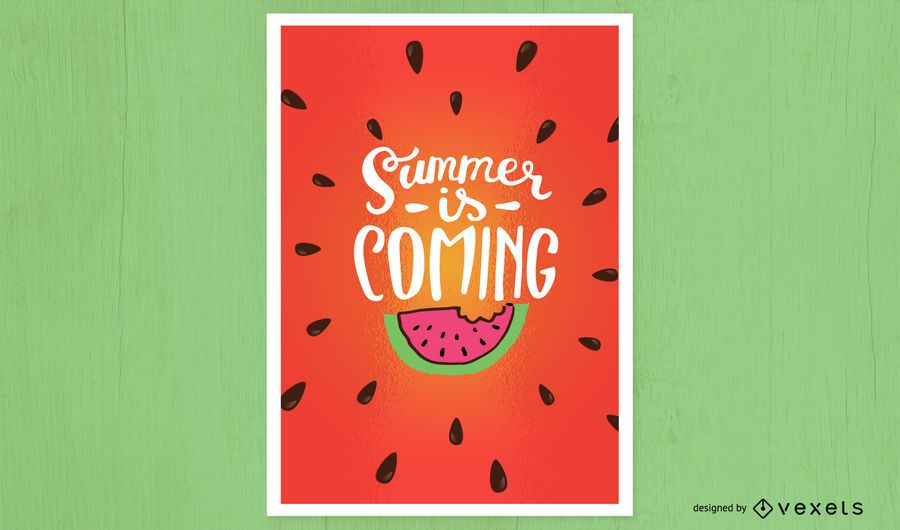 Summer is coming poster design