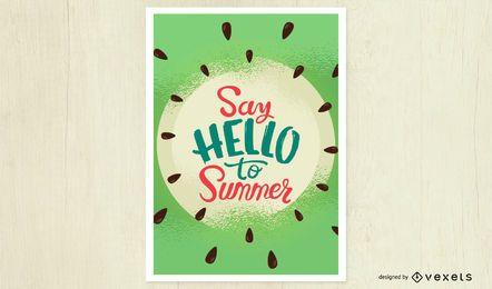 Diga olá ao cartaz de verão