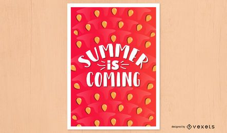 Summer coming watermelon poster design