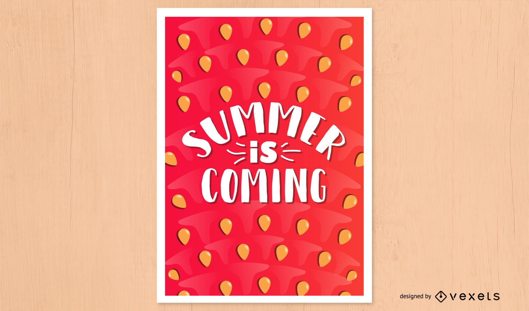 Summer coming watermelon poster design