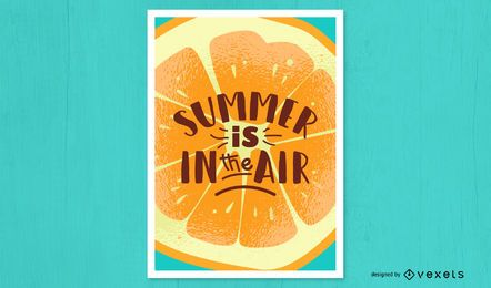 Cartaz de laranja de ar de verão