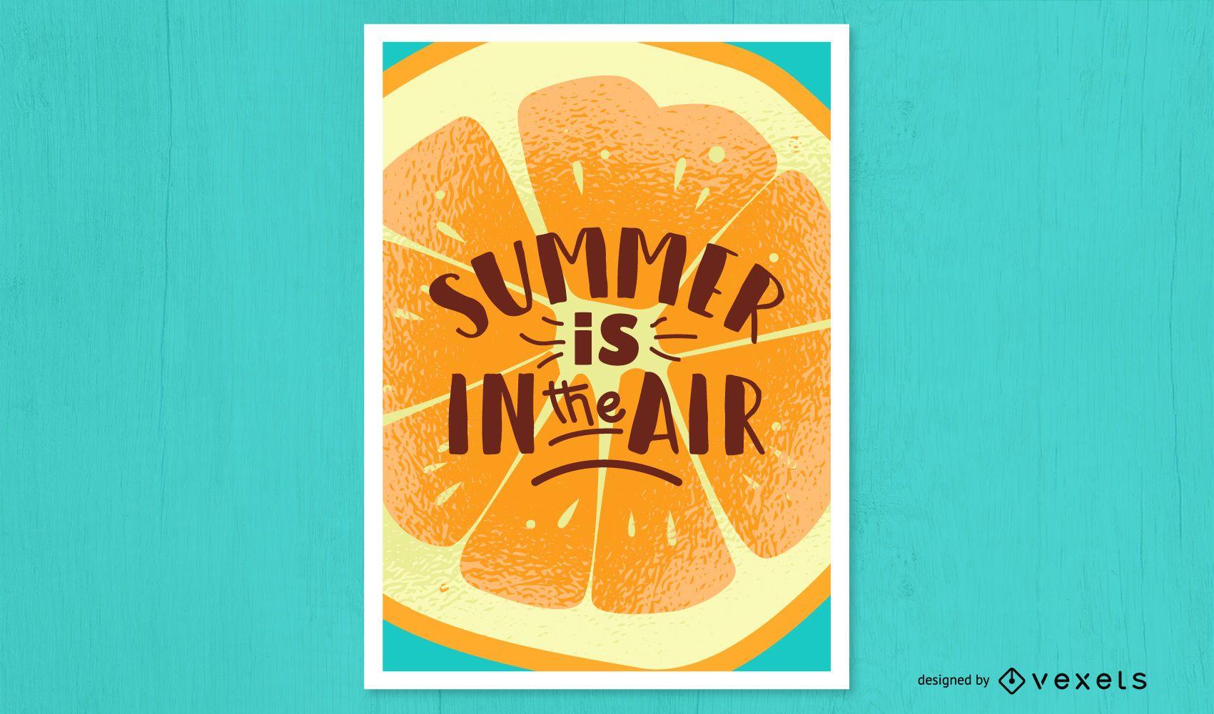 Summer air orange poster