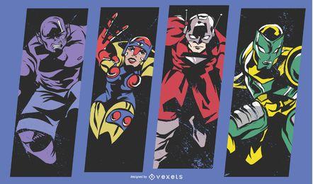 Superhero comic illustration