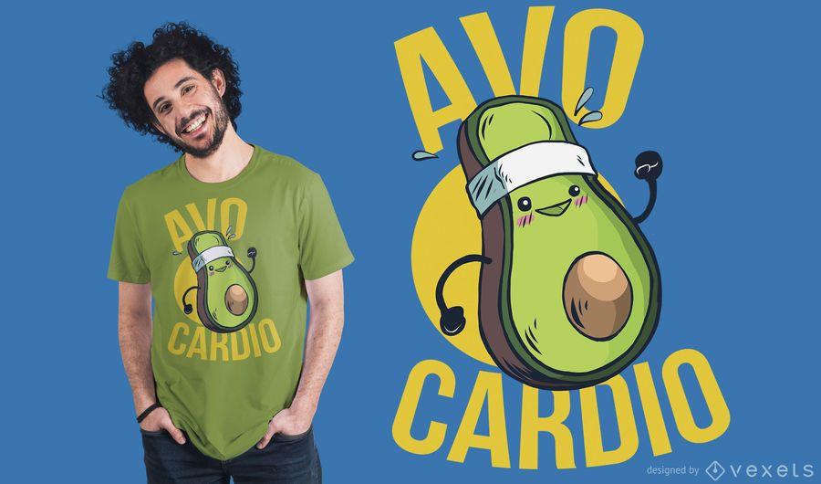Diseño de camiseta avocardio