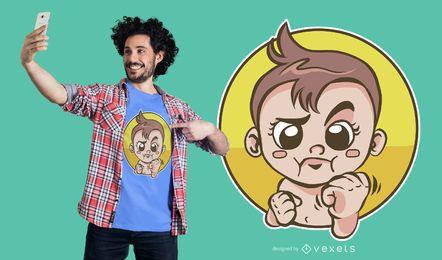 Diseño de camiseta de bebé boxeo