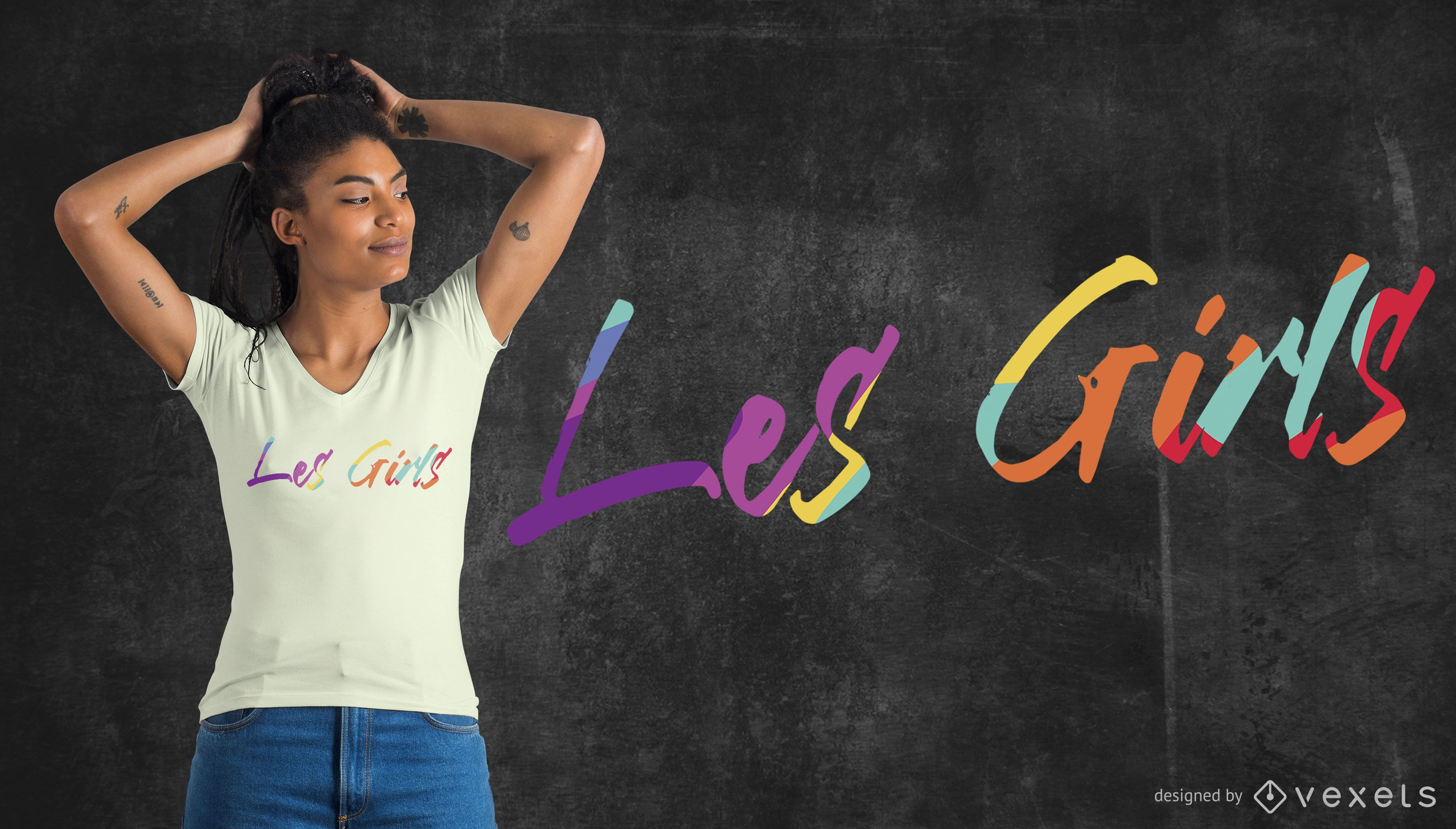 French Girls Quote T-shirt Design