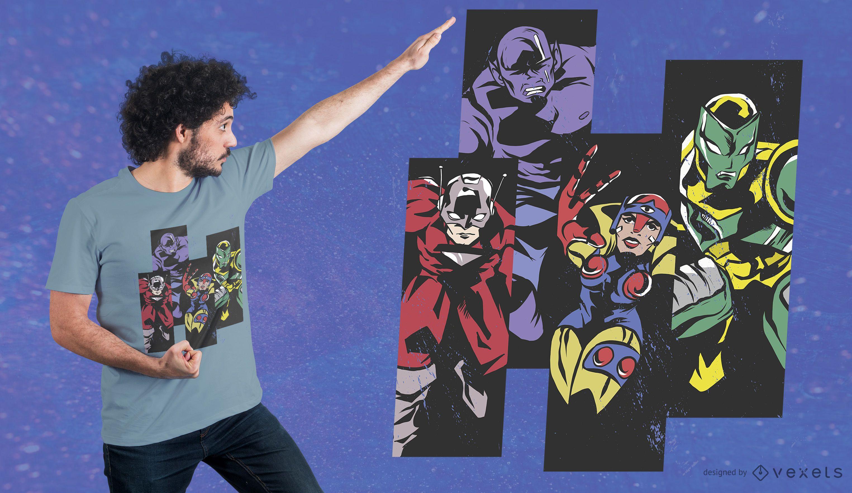 Super Heroes T-Shirt Design
